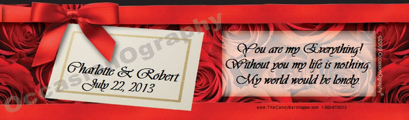 Elegant Roses Bottle Labels
