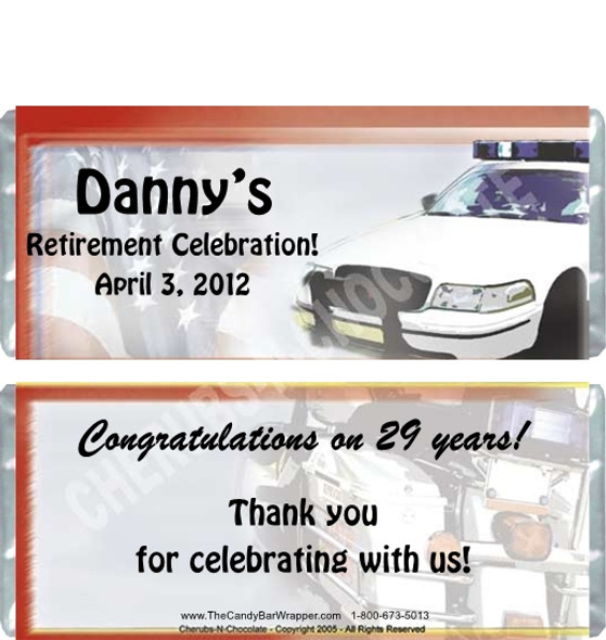 Police Department Retirement Candy Wrappers