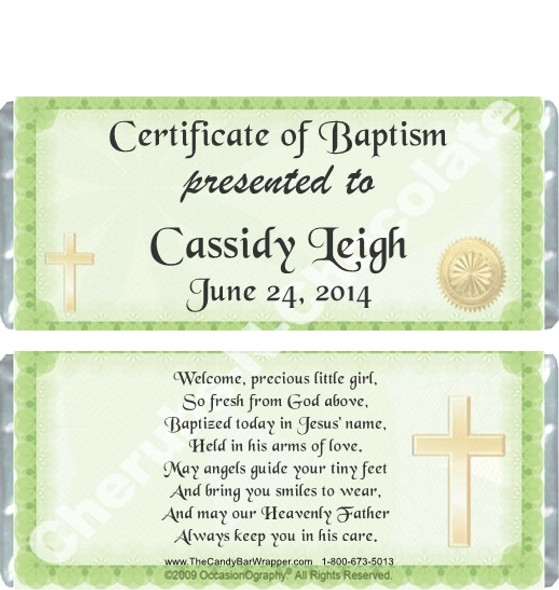 Baptism Party Favor