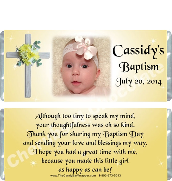 Christening Candy Bar Wrappers