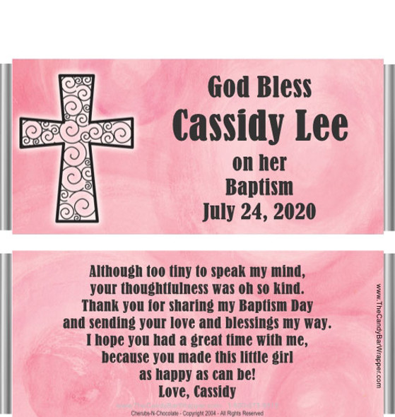 Personalized Baptism Candy Bar