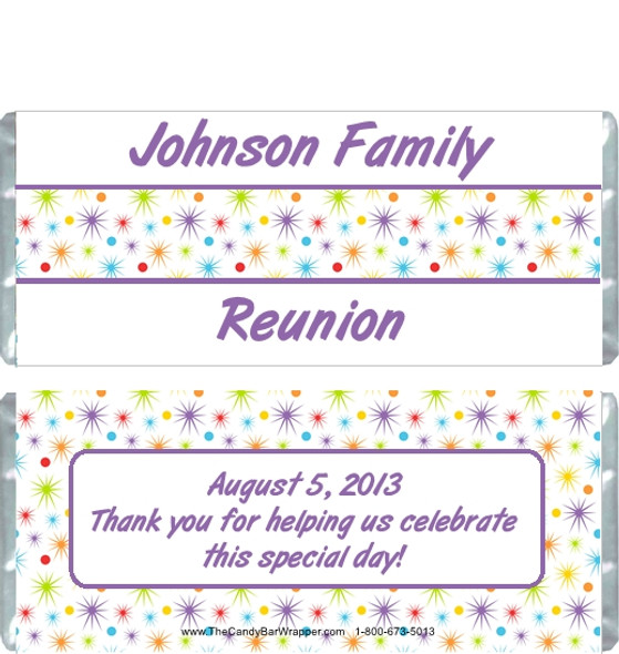 Family Reunion Stars Candy Wrappers
