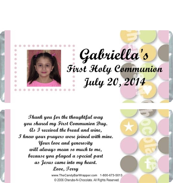 First Holy Communion Candy Favors