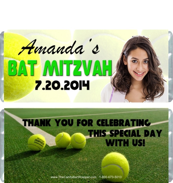 Tennis Bat Mitzvah Candy Wrappers