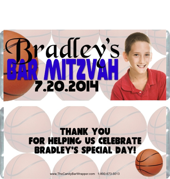 Basketball Bar Mitzvah Candy Wrappers