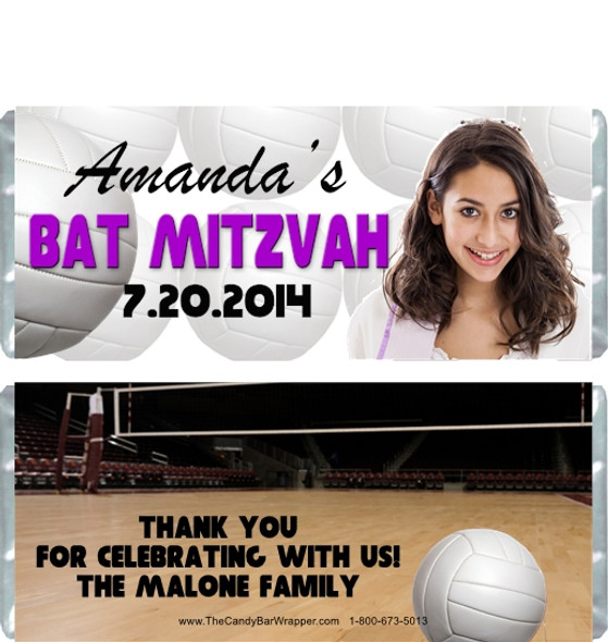 Volleyball Bat Mitzvah Candy Wrappers