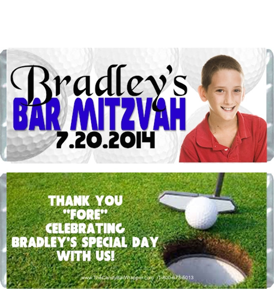 Golf Bar Mitzvah Candy Wrappers