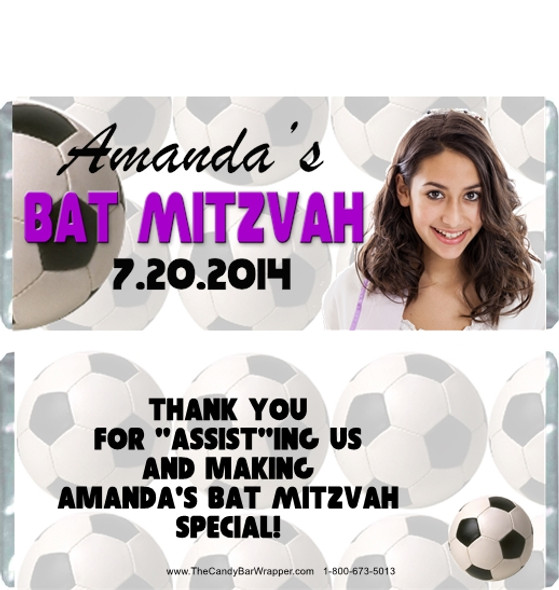 Soccer Bat Mitzvah Candy Wrappers