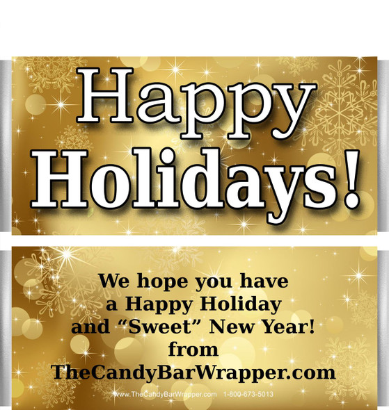 Holiday Gold Candy Wrappers