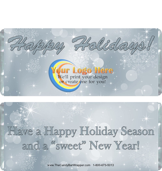 Silver Holiday Candy Wrappers
