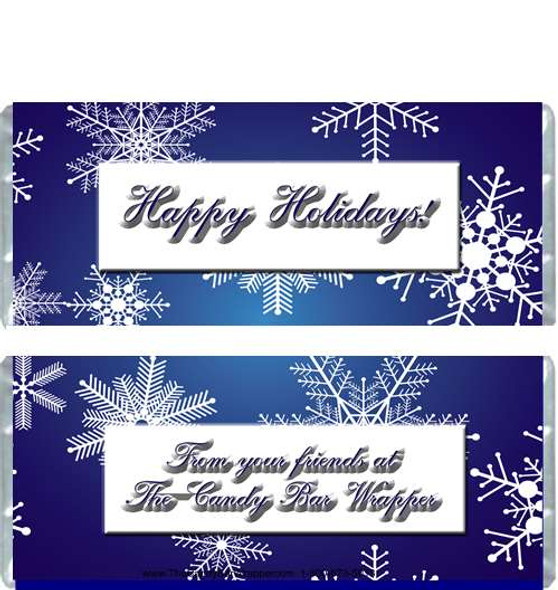 Blue Snowflakes Candy Wrappers