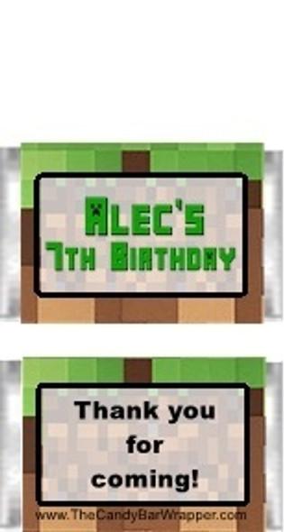 Minecraft Mini Candy Bars