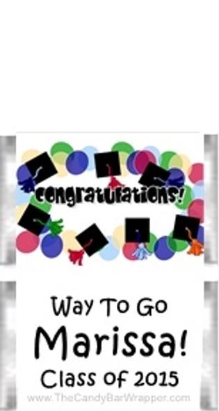 Graduation 9 Mini Candy Bars