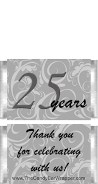 Mini 25th Anniversary Candy Bars