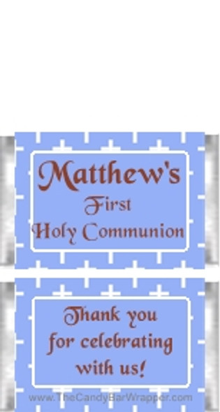 Mini First Holy Communion Blue Candy Bars