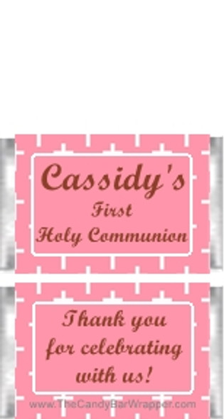 Mini First Holy Communion Pink Candy Bars