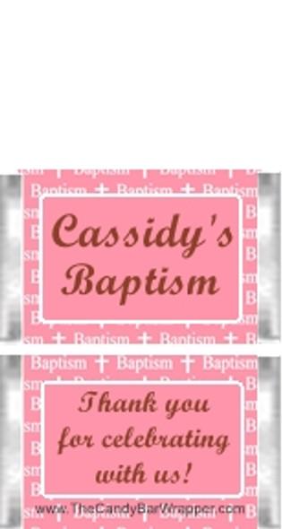 Mini Baptism Pink Chocolate Bars