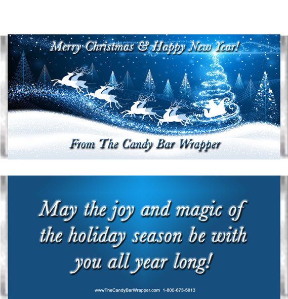 Santa's Sleigh Candy Wrappers