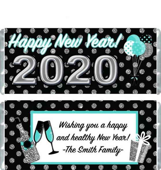 Happy New Year Candy Wrappers