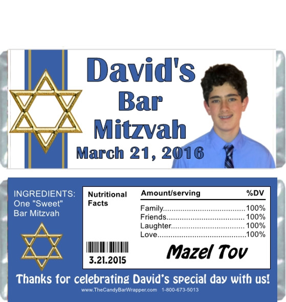 Bar Mitzvah Hershey Bar Wrappers