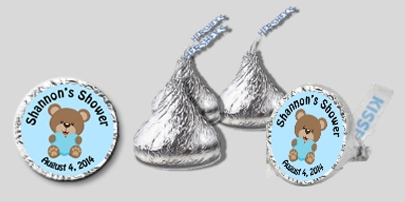 Bee Baby Blue Baby Shower Hershey Kisses
