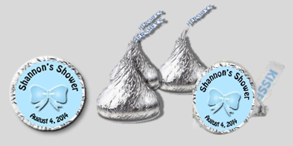 Blue Bow Baby Shower Hershey's Kisses