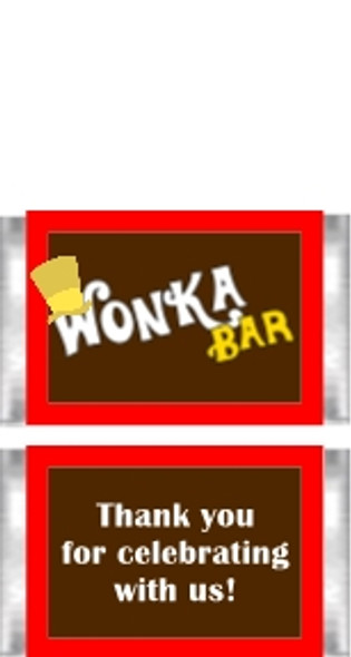 Willy Wonka Themed Mini Candy Bars