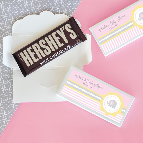 Pink Elephant Candy Bar Covers
