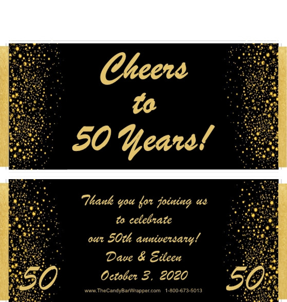 50th Anniversary Chocolate Bar Wrappers