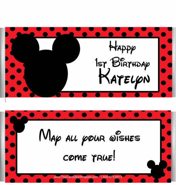 Mickey Mouse Themed Candy Wrappers