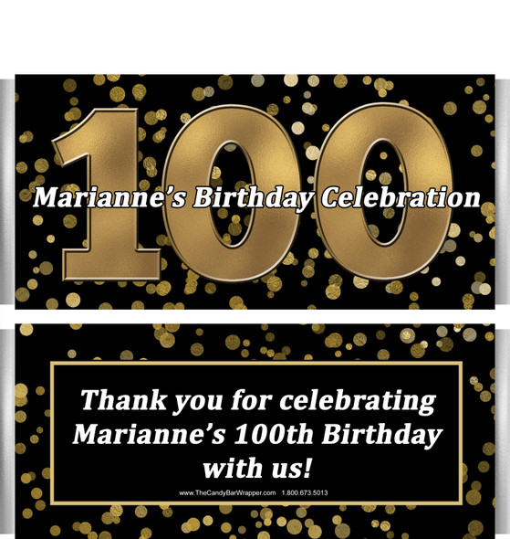 100th Birthday Candy Bar Wrappers