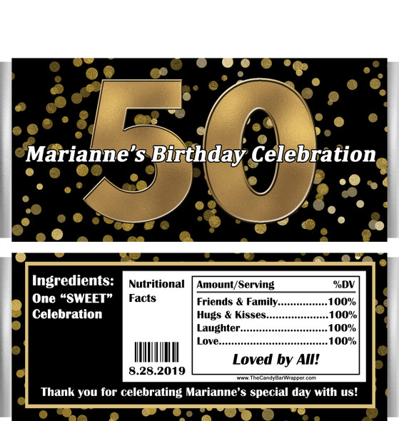 50th Birthday Chocolate Bars