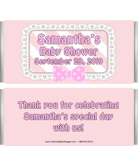 Girl Baby Shower Candy Bar Wrappers