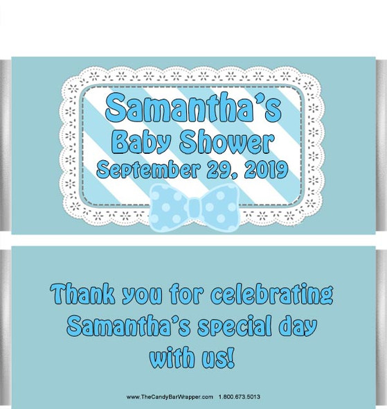 Boy Baby Shower Candy Bar Wrappers