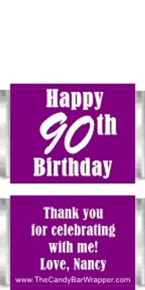 Birthday Mini Candy Bars - Purple