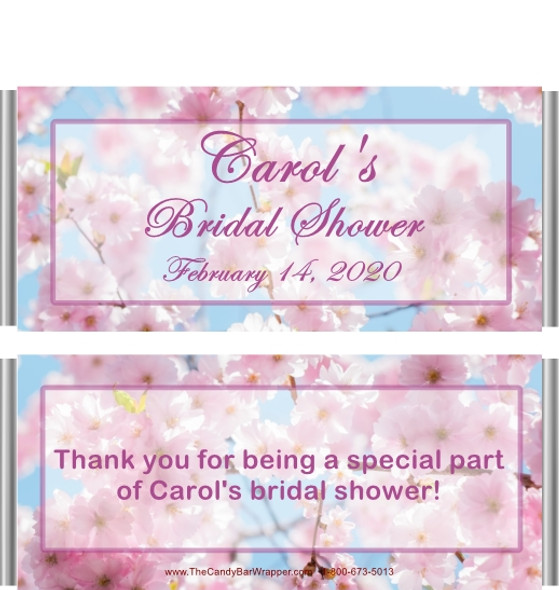 Cherry Blossom Wedding Shower Candy Bar Wrappers