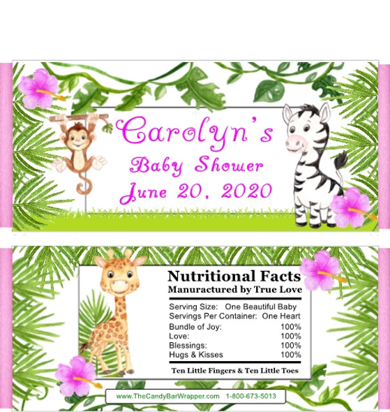 Safari Themed Girl Candy Wrappers