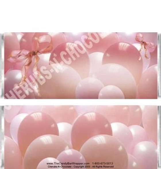 Pink Balloons Candy Wrapper