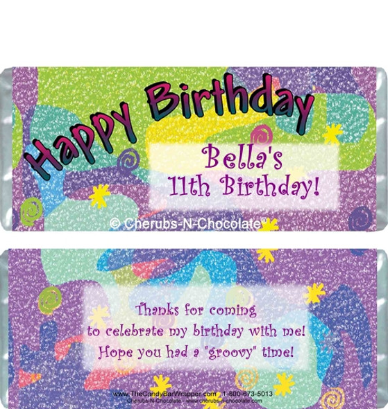 Birthday 2 Candy Wrappers Sample