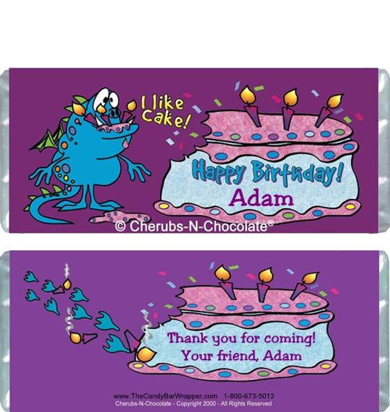 I Like Cake Candy Wrappers Sample