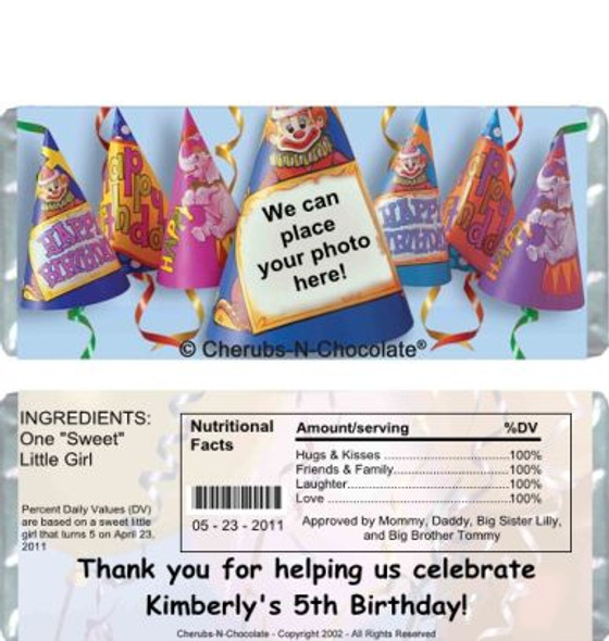 Birthday Hats Candy Wrapper Sample