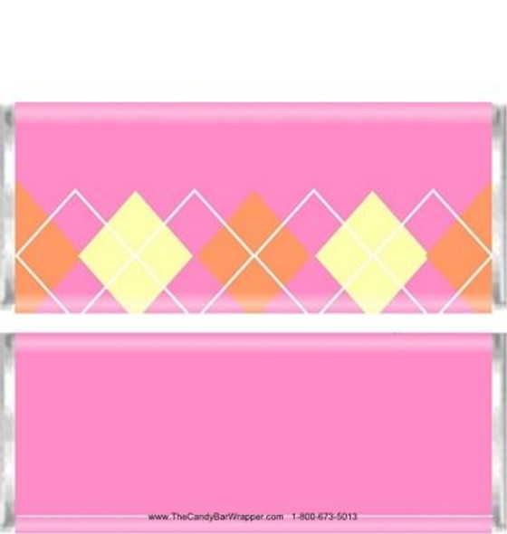 Pink Plaid Candy Wrappers