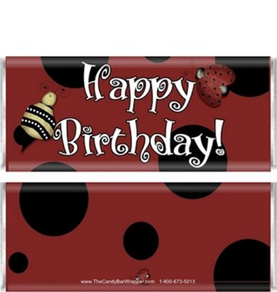 Ladybugs Candy Bar Wrappers