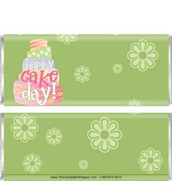 Colorful Cake Candy Bar Wrappers