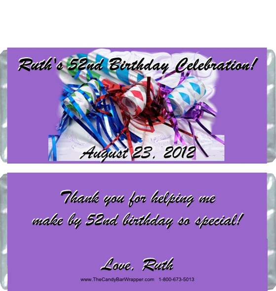 Party Birthday Adult Candy Wrappers