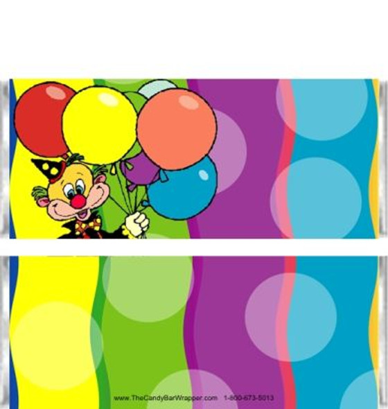 Clown Candy Bar Wrappers
