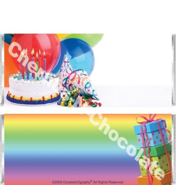 Rainbow Party Candy Wrappers
