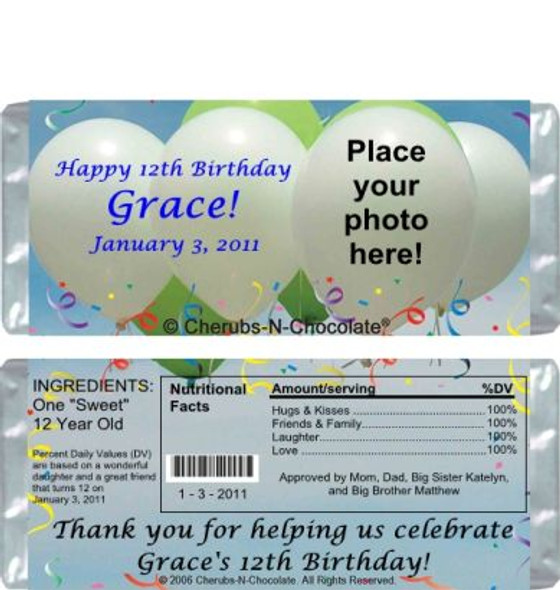 Personalized Child Party Favor Sample