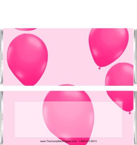 Pink Balloons Candy Bar Wrappers