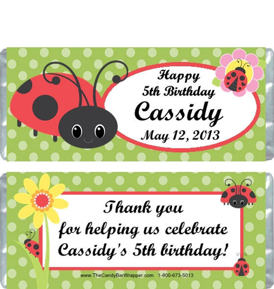Ladybug 2 Candy Wrappers